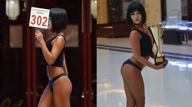Đường cong gây chao đảo của 'Hoa hậu siêu vòng ba' Trung Quốc ảnh 1