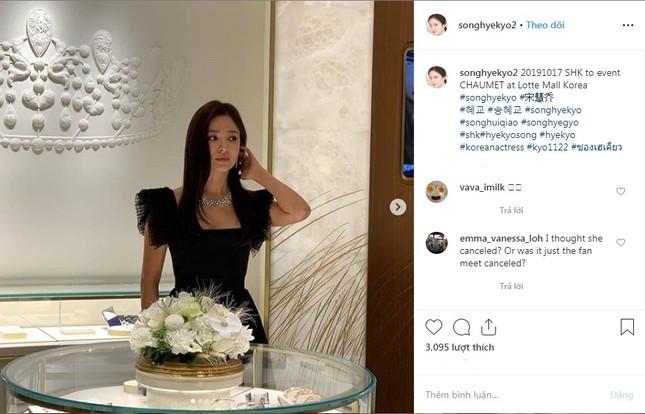 Song Hye Kyo huỷ lịch trình vì Sulli nhưng vẫn đi sự kiện gây tranh cãi ảnh 1