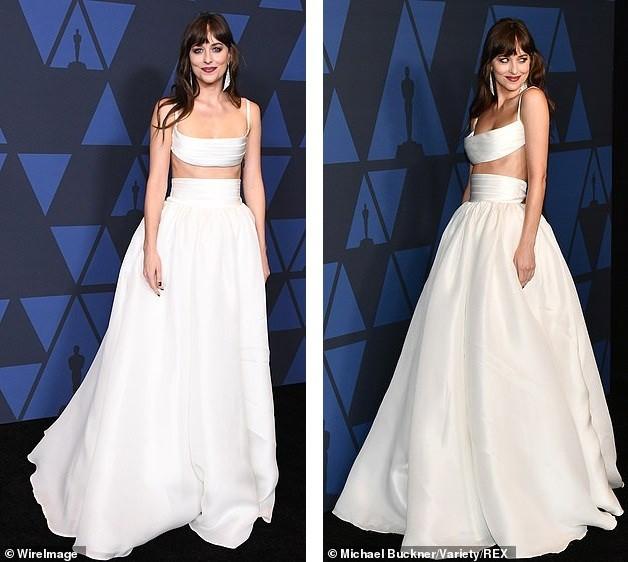 Mỹ nhân '50 sắc thái' Dakota Johnson diện váy hai mảnh đẹp hút hồn ảnh 1