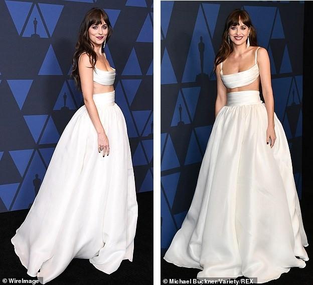 Mỹ nhân '50 sắc thái' Dakota Johnson diện váy hai mảnh đẹp hút hồn ảnh 3