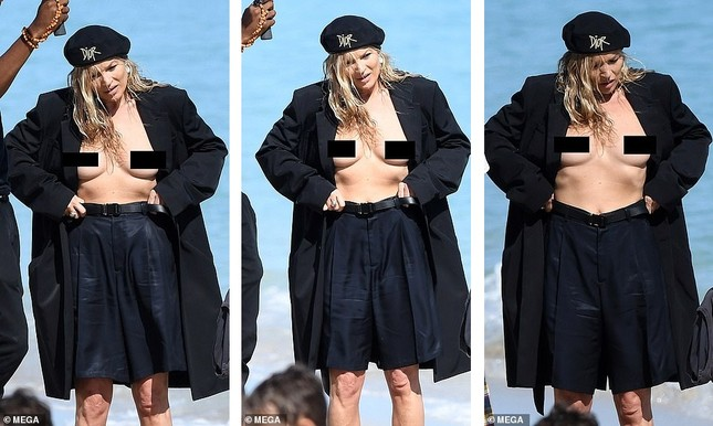 Kate Moss vô tư phơi ngực trần trong buổi chụp hình cho Dior ảnh 3