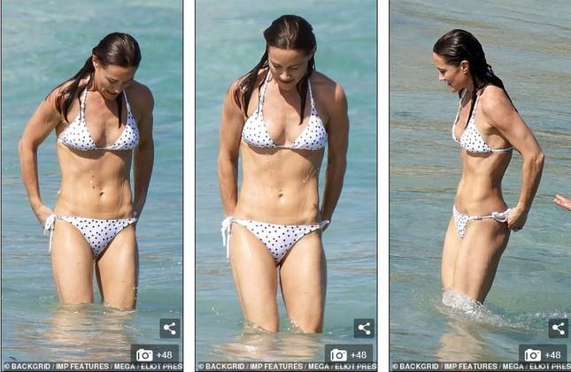 Tự tin diện bikini hai mảnh tuổi U70, mẹ Công nương Kate nhận 'mưa' lời khen ảnh 5