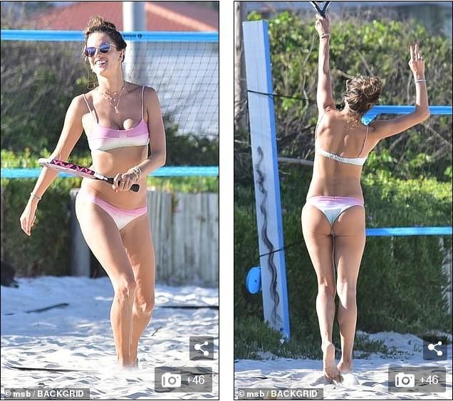 Alessandra Ambrosio mặc bikini đôi với con gái, hôn đắm đuối bạn trai ảnh 14