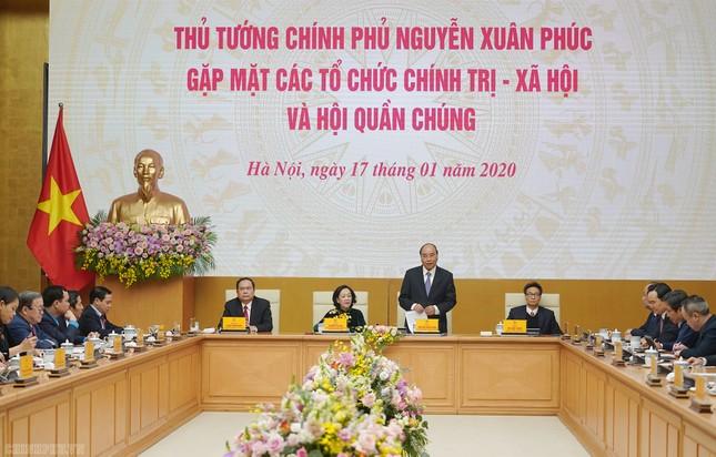 Thủ tướng gặp mặt các tổ chức chính trị-xã hội và hội quần chúng ảnh 1
