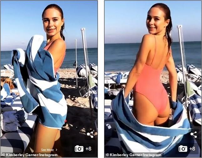 'Đỏ mặt' với bikini khoét hông táo bạo của Kimberley Garner ảnh 6