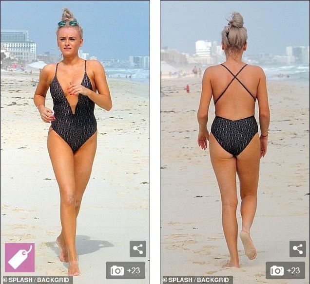 Katie McGlynn diện bikini xẻ sâu hun hút, khoe vòng một 'nhức mắt' ảnh 1