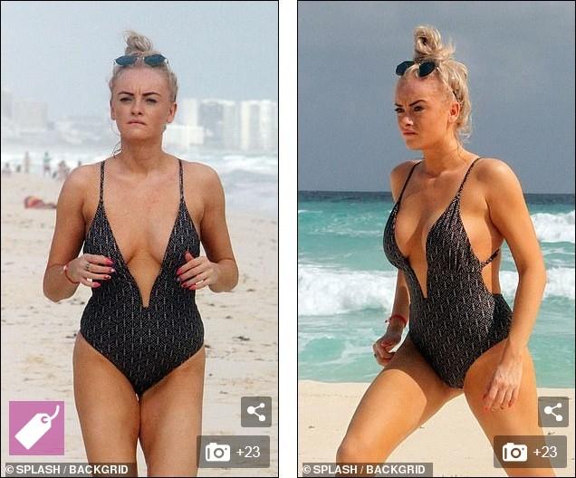 Katie McGlynn diện bikini xẻ sâu hun hút, khoe vòng một 'nhức mắt' ảnh 4