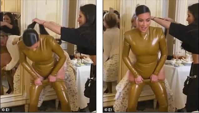 Kim Kardashian đau đớn đến mức văng tục do mặc đồ bó cứng cơ thể ảnh 2