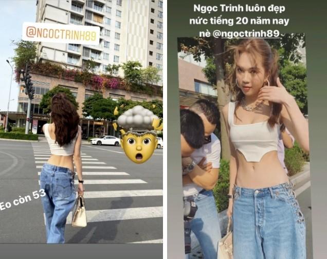 Diện crop-top khoe eo 53 cm, Ngọc Trinh gây choáng vì mặc quần 'quên' nội y ảnh 2