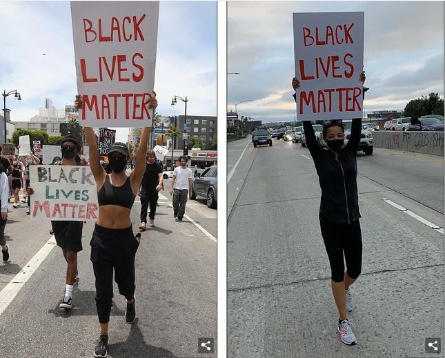 Loạt sao Hollywood liên tục xuống đường biểu tình ủng hộ người da đen ảnh 20