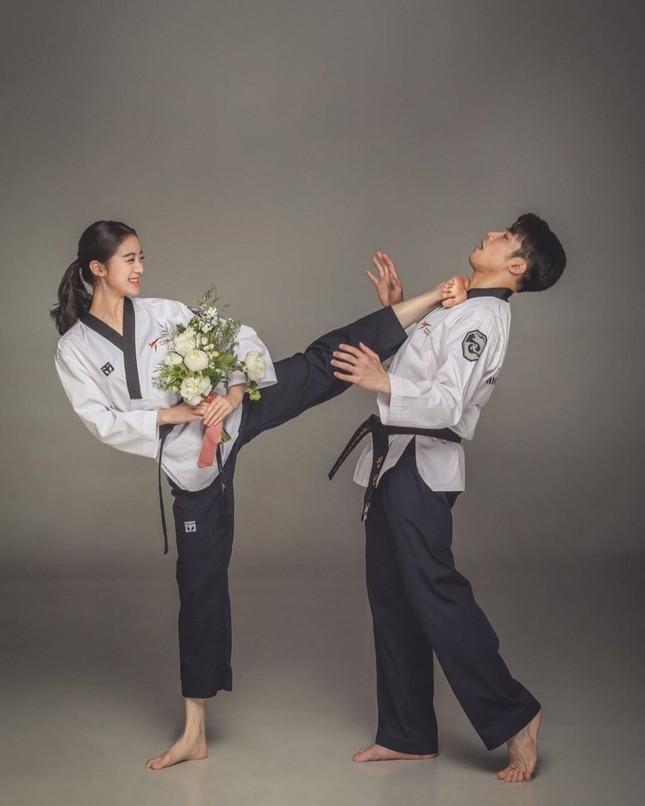 Ảnh cưới đậm chất võ thuật của mỹ nhân Wonder Girls và cao thủ taekwondo ảnh 4
