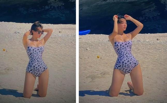 'Nhuộm da' với đồ bơi, Thanh Hương được khen nóng bỏng như mỹ nhân Hollywood ảnh 8