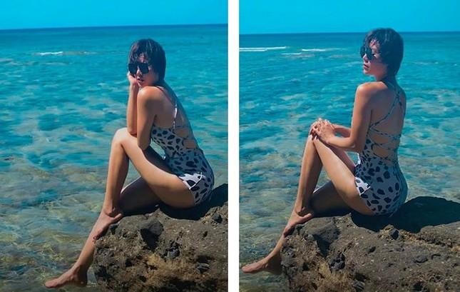 'Nhuộm da' với đồ bơi, Thanh Hương được khen nóng bỏng như mỹ nhân Hollywood ảnh 1