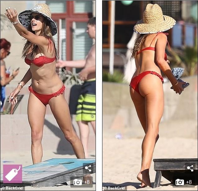 Alessandra Ambrosio tươi rói trên bãi biển, bộ bikini thành tâm điểm bàn tán ảnh 3