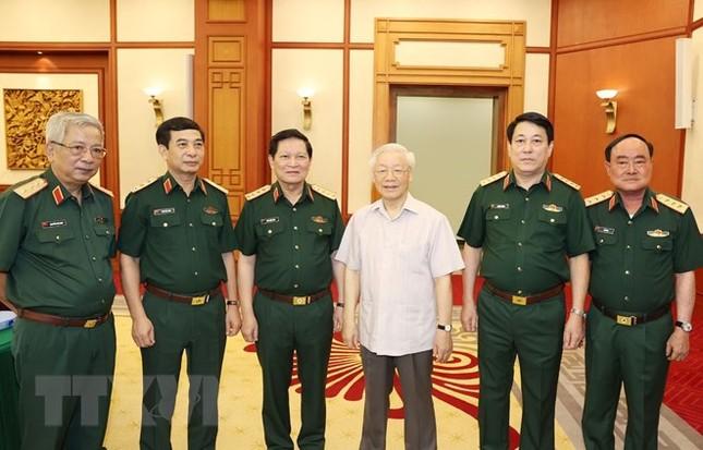 Bộ Chính trị làm việc với Thường vụ Quân ủy Trung ương ảnh 5
