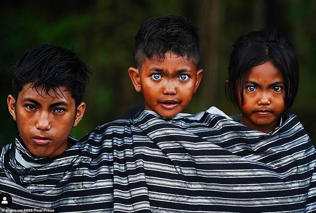 Kỳ lạ bộ tộc có màu mắt xanh biếc như bầu trời ở Indonesia ảnh 2