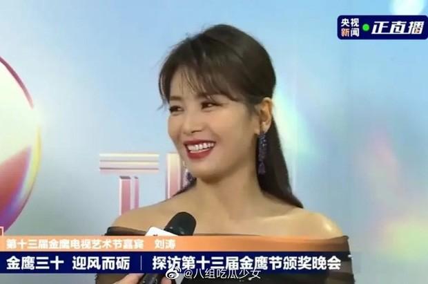 'Bóc trần' nhan sắc thật của loạt mỹ nhân Hoa ngữ tại lễ bế mạc Kim Ưng 2020 ảnh 12