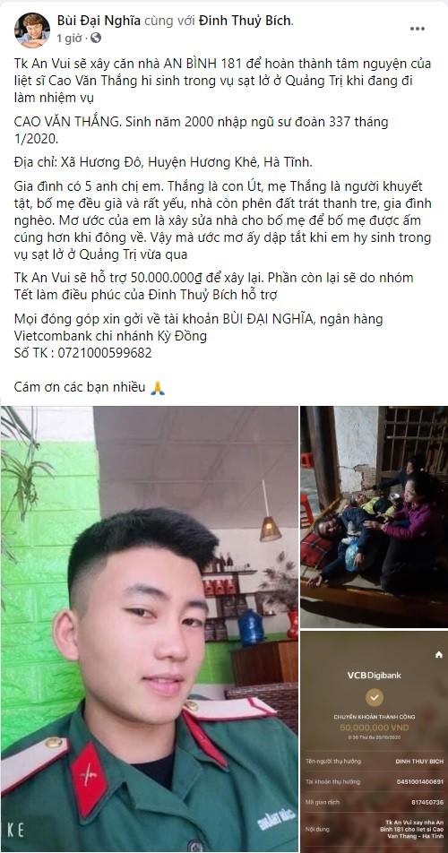 Nghệ sĩ Việt liên tục quyên góp, trực tiếp đi cứu trợ miền Trung ruột thịt ảnh 2