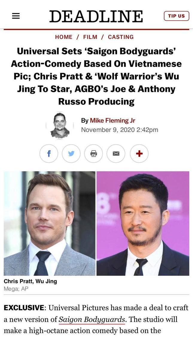 Loạt báo quốc tế đưa tin Hollywood làm lại 'Vệ sĩ Sài Gòn' của Việt Nam ảnh 1