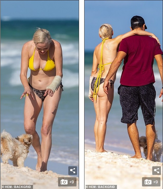 Em út phim 'Phép thuật' tự tin diện bikini dạo biển ở tuổi 47 ảnh 2