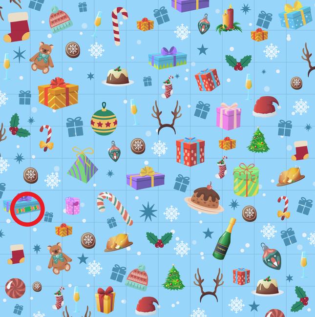 Trò chơi 'Hack não': Tìm mũ của ông già Noel trong giấy gói quà ảnh 12