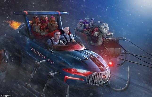 Xúc động bộ ảnh Giáng sinh bên ông già Noel của bệnh nhi giữa mùa COVID-19 ảnh 15
