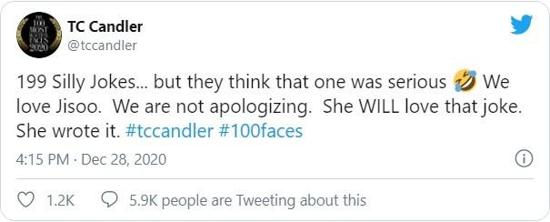 Fan của Black Pink phẫn nộ tố TC Candler 'đá đểu' Jisoo trong top 100 gương mặt đẹp ảnh 4