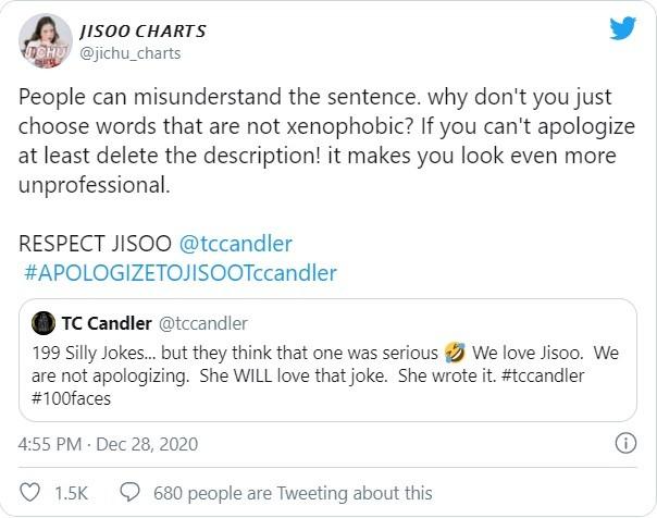 Fan của Black Pink phẫn nộ tố TC Candler 'đá đểu' Jisoo trong top 100 gương mặt đẹp ảnh 5
