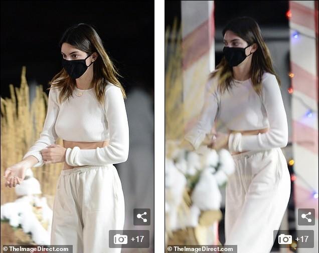 Kendall Jenner mặc 'quên nội y', mặc crop-top khoe eo thon bất chấp lạnh âm độ C ảnh 4
