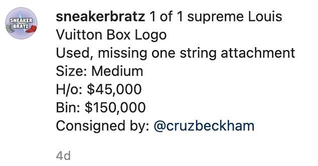 Dân mạng 'dậy sóng' vì chiếc áo cũ của cậu út nhà David Beckham được bán giá hơn 3 tỷ đồng ảnh 1