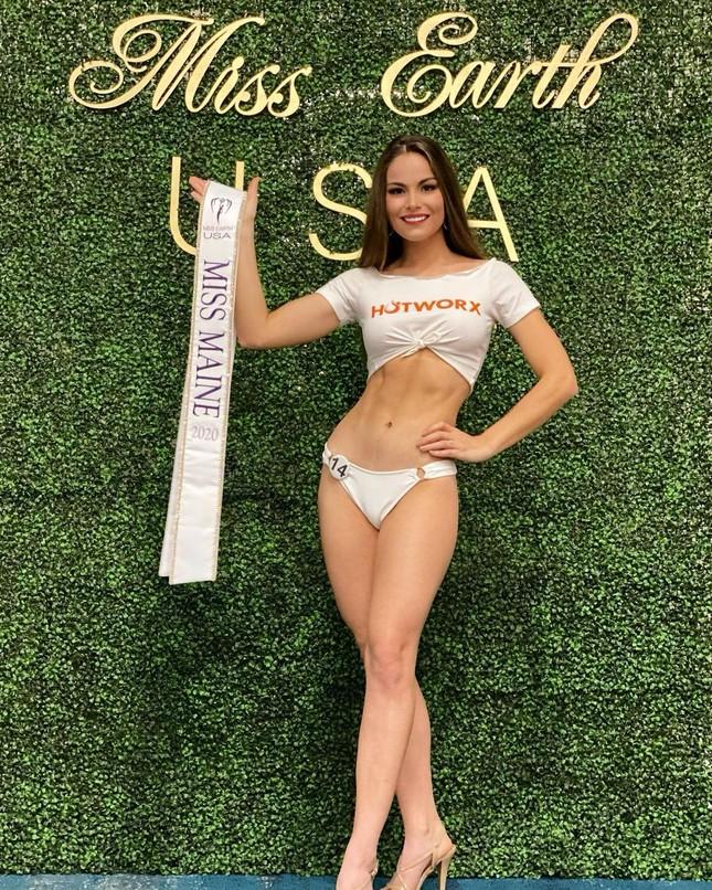 Sắc vóc cực phẩm của người mẫu 27 tuổi đăng quang Hoa hậu Trái đất Mỹ 2021 ảnh 2