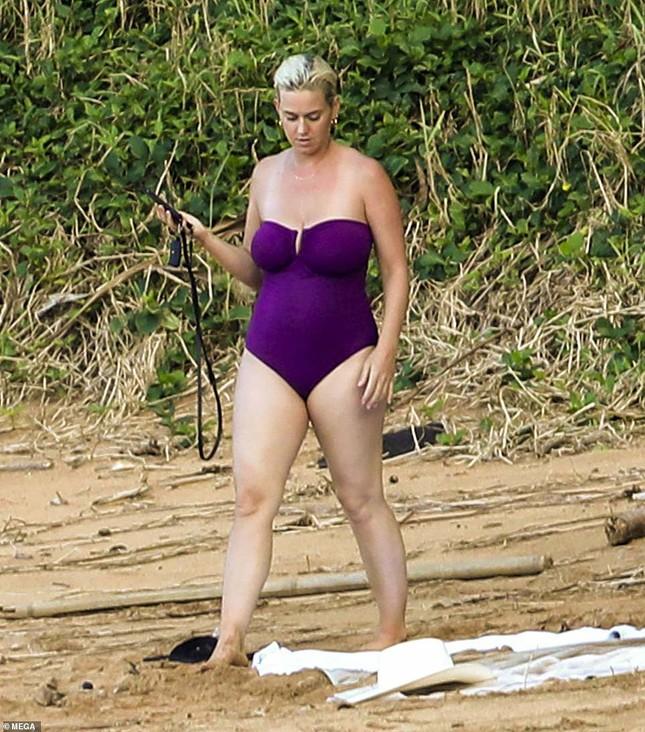 Chưa lấy lại dáng sau sinh con, Katy Perry vẫn tự tin diện đồ bơi trễ nải ảnh 2