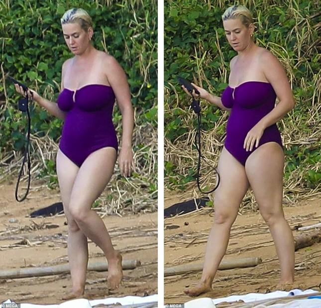 Chưa lấy lại dáng sau sinh con, Katy Perry vẫn tự tin diện đồ bơi trễ nải ảnh 3