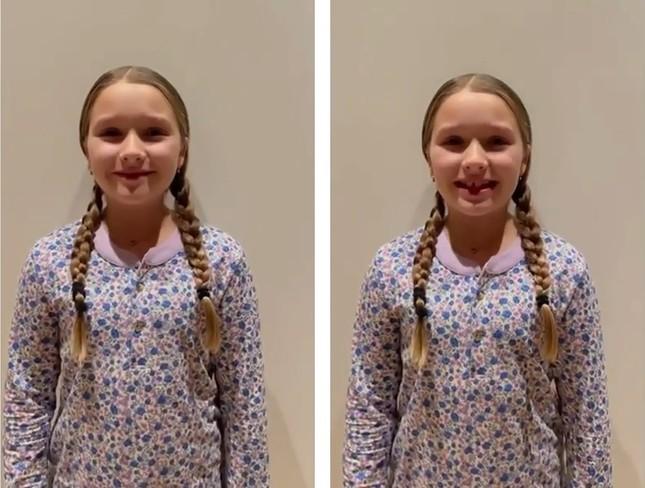 Con gái Beckham chúc mừng ngày phụ nữ, mới 10 tuổi đã phổng phao thấy rõ ảnh 1
