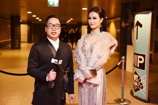 Đông Nhi trả lời phỏng vấn MTV Asia tại lễ trao giải EMA 2016 ảnh 2