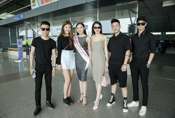 Chúng Huyền Thanh tiễn Hoàng Thu Thảo dự thi HH Châu Á Thái Bình Dương 2016 ảnh 1