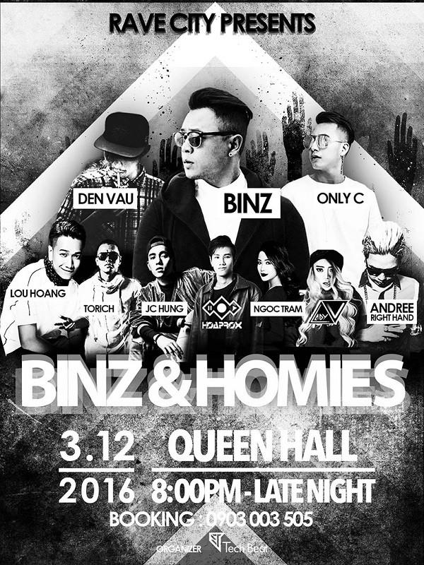 Giới trẻ Sài Gòn phát sốt với đêm nhạc Binz & Homies ảnh 1