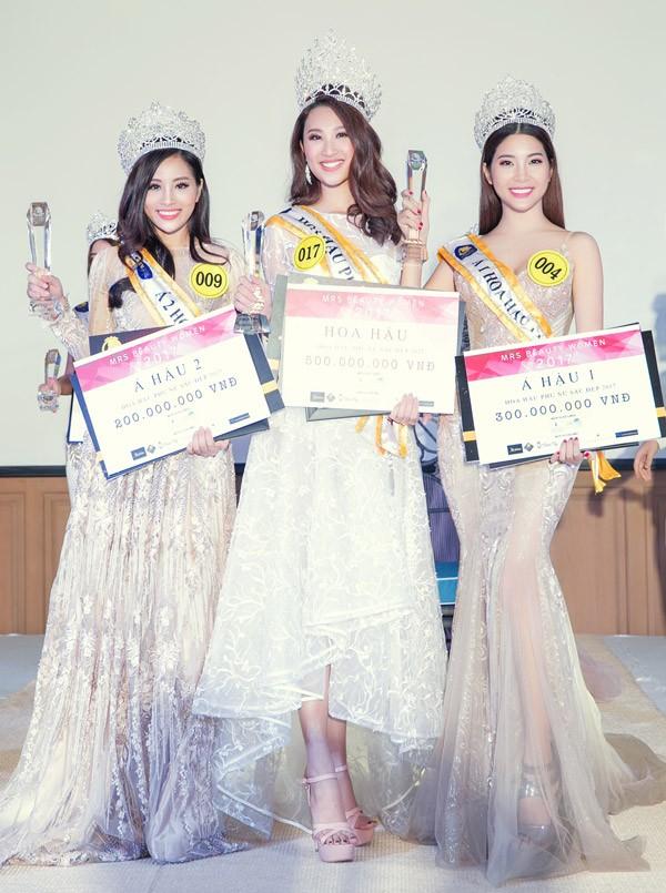 Hoa hậu Việt Nam Ngọc Hân chúc mừng Phạm Anh Thư đăng quang Hoa hậu Phụ nữ Sắc Đẹp 2017 ảnh 1