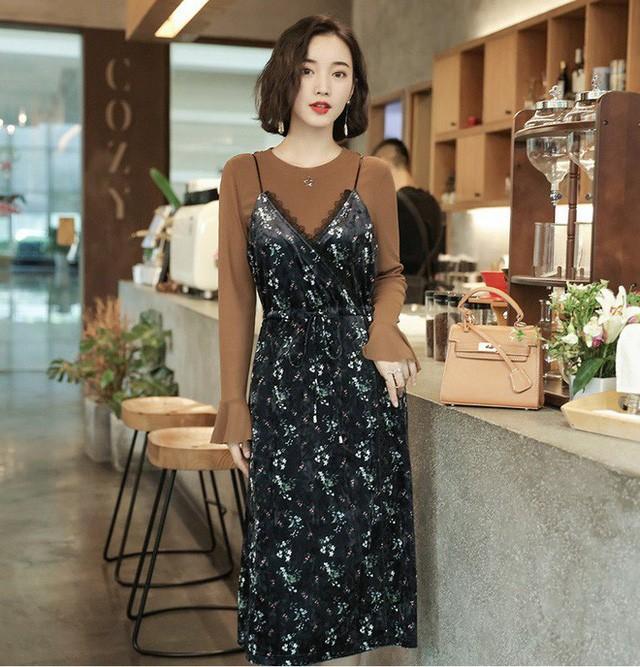 5 mẫu váy đang được các tín đồ thời trang châu Á diện nhiều nhất khi tiết trời se lạnh ảnh 9