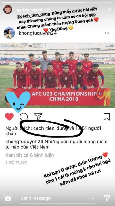 Rất nhiều ngôi sao V-Biz đồng loạt trở thành fanboy, fangirl của U-23 Việt Nam ảnh 5