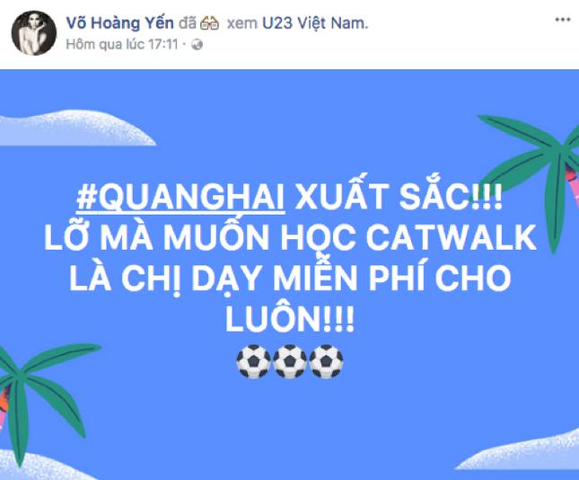 Rất nhiều ngôi sao V-Biz đồng loạt trở thành fanboy, fangirl của U-23 Việt Nam ảnh 8