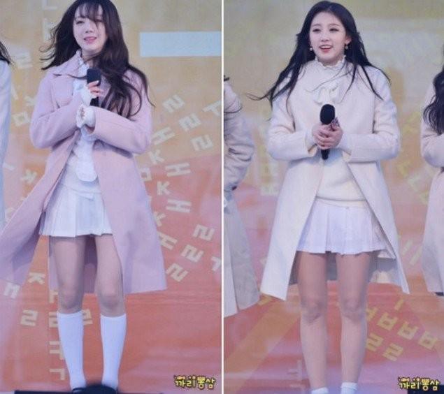 Khán giả xót xa khi nhìn Lovelyz phải mặc váy ngắn, co ro biểu diễn trong tiết trời lạnh giá ảnh 1
