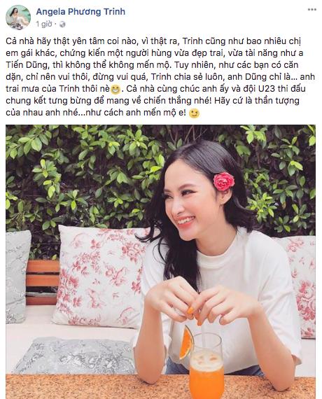 """Angela Phương Trinh khẳng định chỉ xem anh  Bùi Tiến Dũng là """"anh trai mưa""""  ảnh 3"""