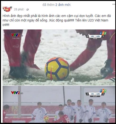 Khoảnh khắc xúc động: Văn Thanh cùng đồng đội dùng tay cào tuyết để Quang Hải ghi bàn! ảnh 4
