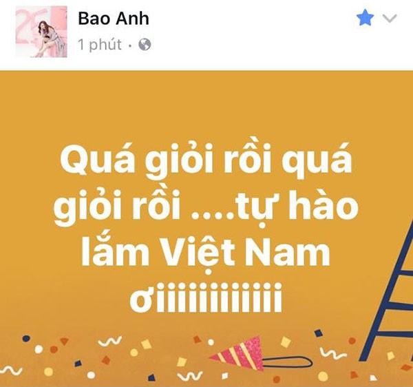 """Các mỹ nhân showbiz Việt thay nhau bày tỏ tình cảm tới những """"người hùng"""" U23 ảnh 6"""