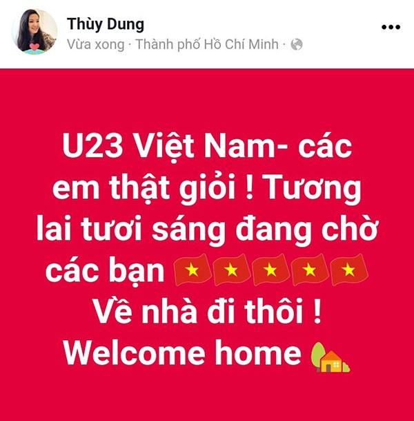 """Các mỹ nhân showbiz Việt thay nhau bày tỏ tình cảm tới những """"người hùng"""" U23 ảnh 3"""