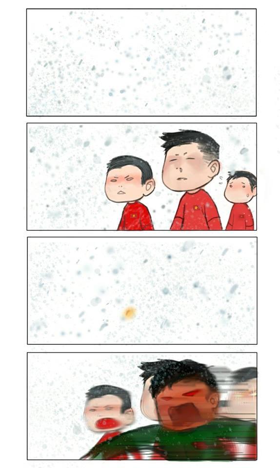 """Mê đắm với bộ sưu tập """"FanArt U23 Việt Nam"""" đẹp lung linh, đáng yêu """"không lối thoát""""! ảnh 4"""