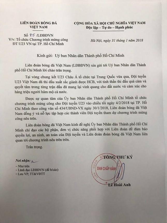 Hơn 25.000 vé miễn phí dành cho người hâm mộ TP.HCM giao lưu với đội U23 Việt Nam ảnh 2