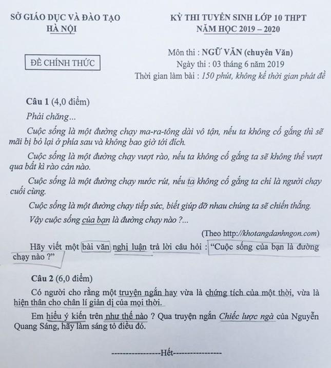 """Tổng hợp đề thi lớp 10 chuyên ở Hà Nội: Toán, Văn """"hóc búa"""", Sử, Địa không """"thách thức"""" thí sinh ảnh 1"""