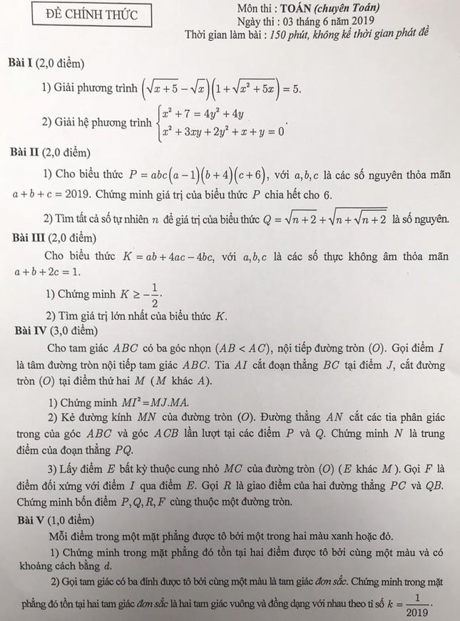 """Tổng hợp đề thi lớp 10 chuyên ở Hà Nội: Toán, Văn """"hóc búa"""", Sử, Địa không """"thách thức"""" thí sinh ảnh 3"""